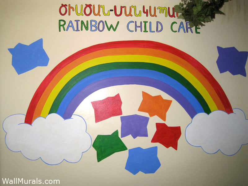 Church Classroom Decoration ~ Preschool wall murals daycare playroom mural