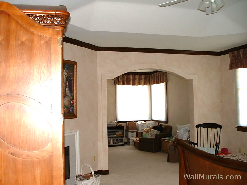 Faux Walls in Master Bedroom