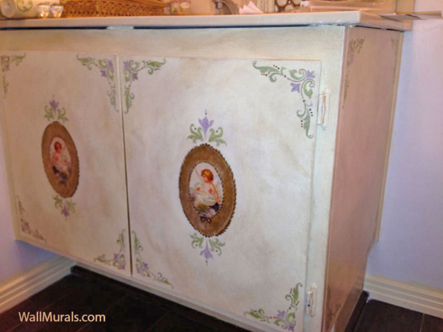 Hand-Painted Vanity - Antique French