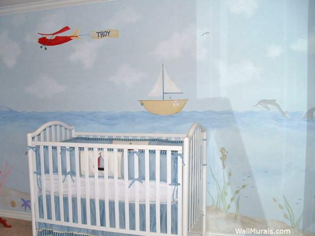 Oean Mural in Nursery