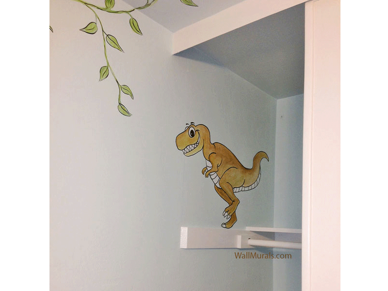 Cartoon Dinosaur Mural