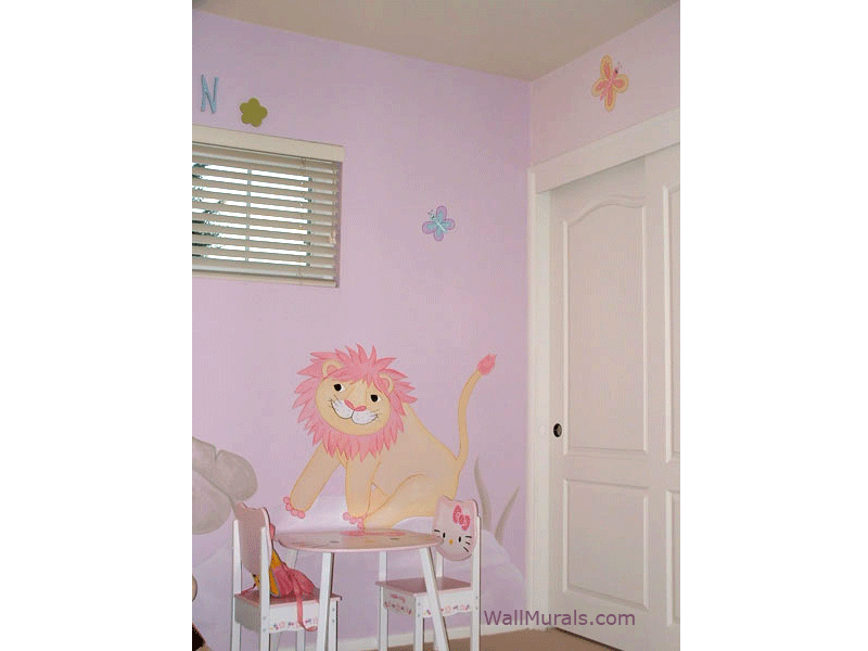 Jungle Wall Mural for Girl