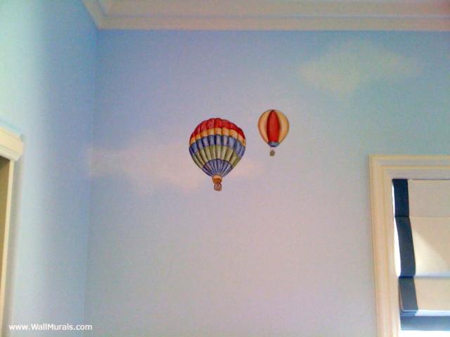 Vintage Hot Air Balloon Mural