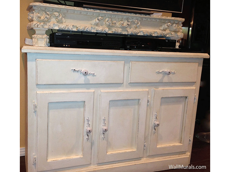 Hand-Painted Weathered Antique Furniture