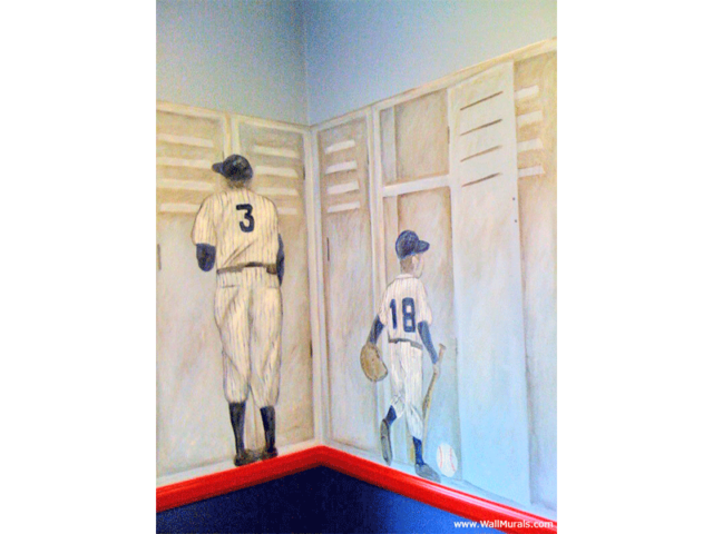 Vintage Sports Locker Wall Mural - Babe Ruth