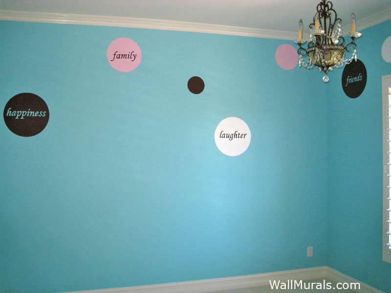 Teen Bedroom with Painted Dots