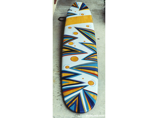 Painted Surfboard for Office