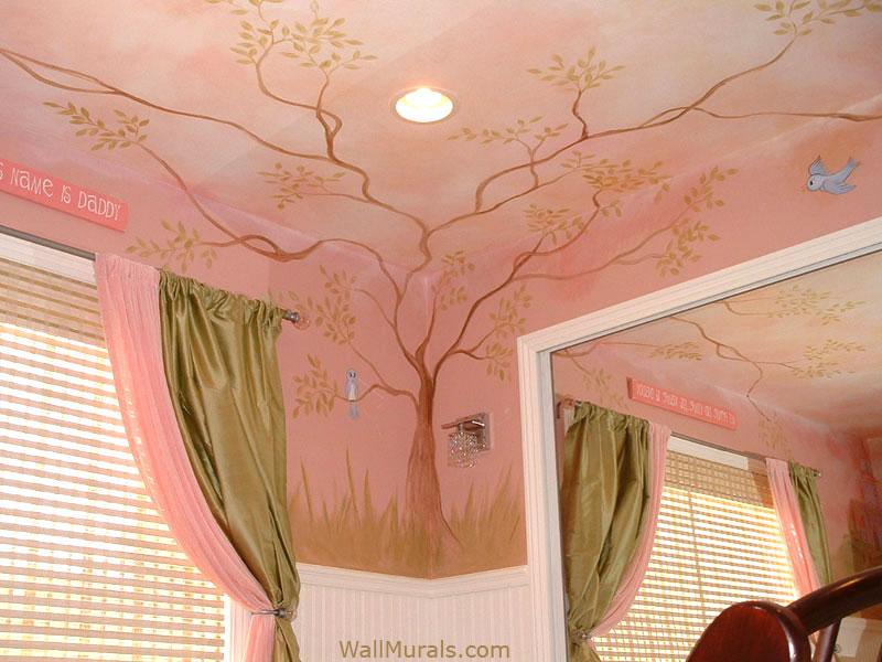 Corner Tree Wall Mural