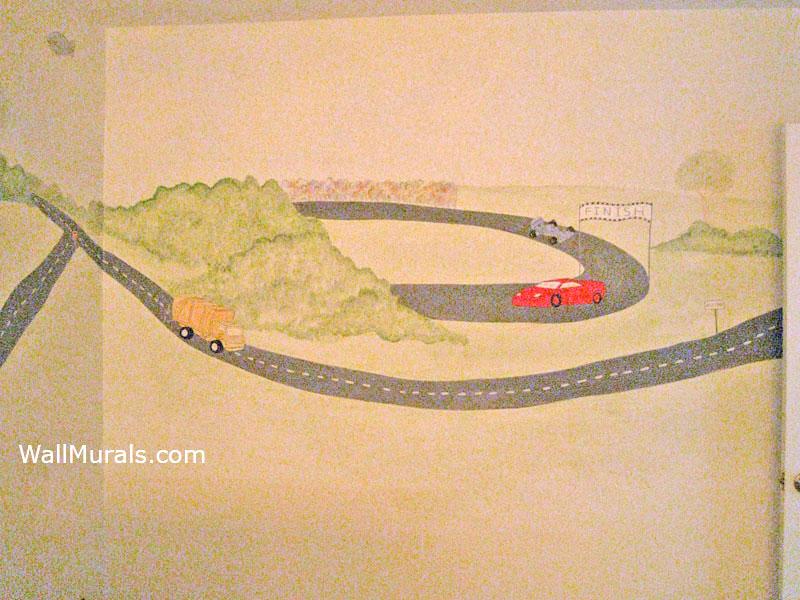 Transportation Theme Mural