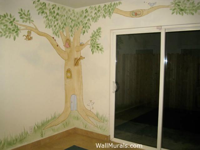 Daycare Wall Mural - Corner Tree Mural