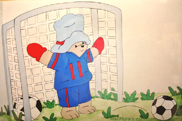 Soccer Teddy Bear Wall Mural