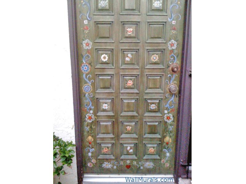 Hand-Painted Entry Door