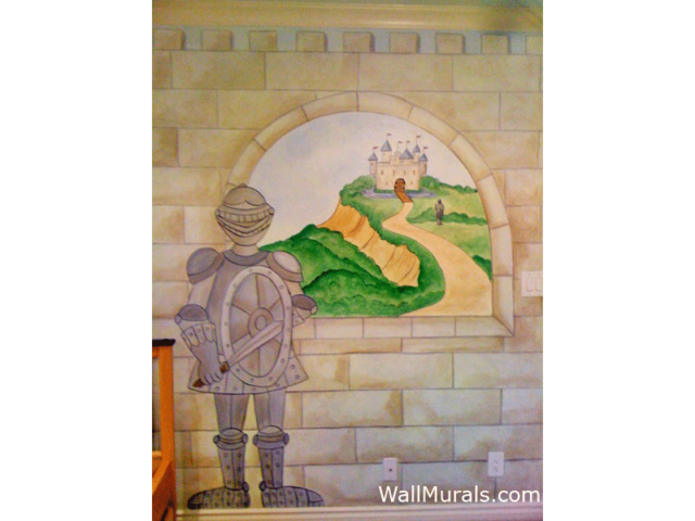 Castle Mural with Knight