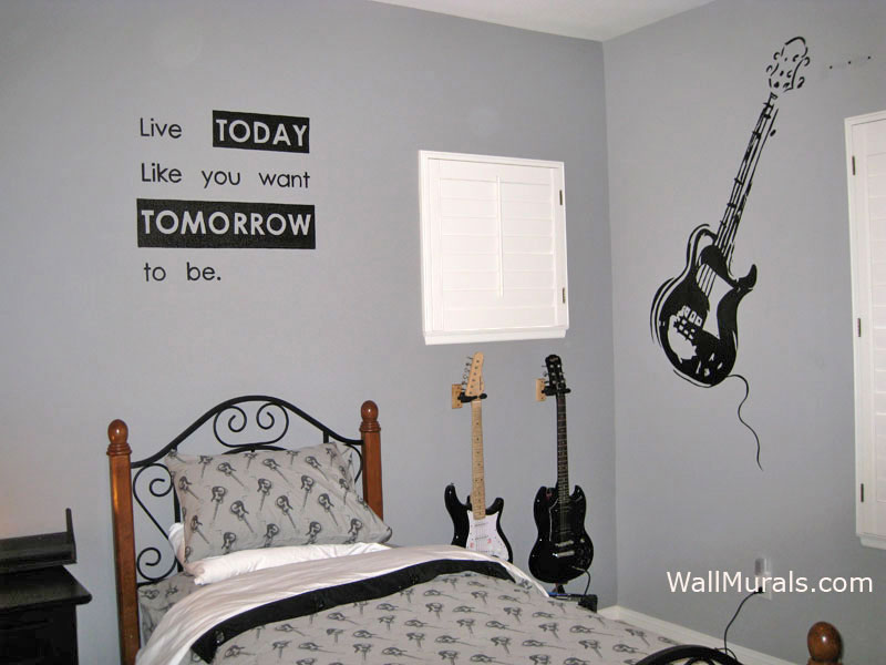 Guitar Wall Mural   Music