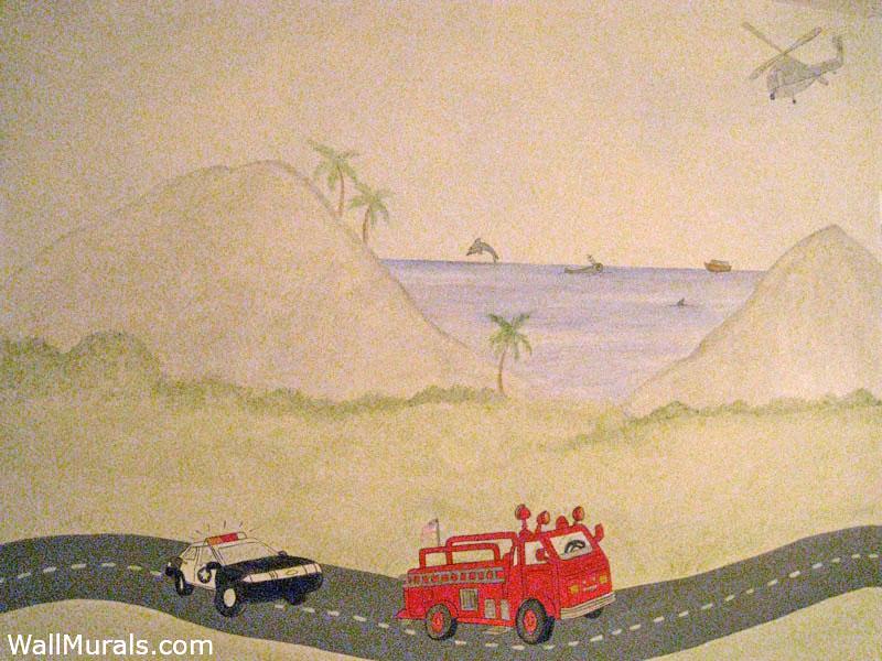Emergency Vehicle Wall Mural