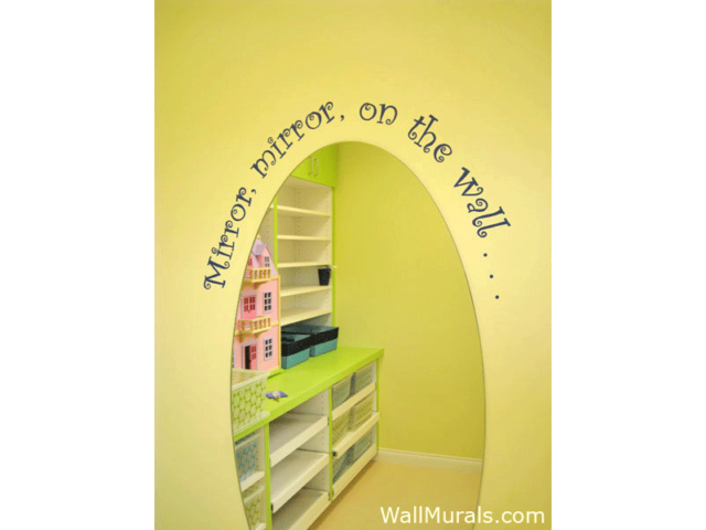 Painted Words over Mirror in Child Therapy Waiting Room