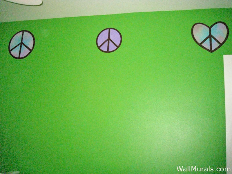 Peace Sign Wall Border for Teen