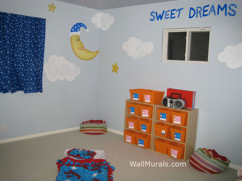 Preschool Wall Mural in Nap Room