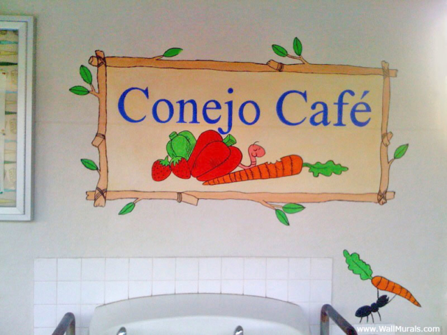 School Wall Mural for Cafeteria Entry