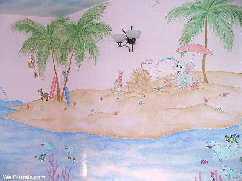 Animal Island Wall Mural