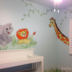Jungle Wall Mural in Baby Nursery