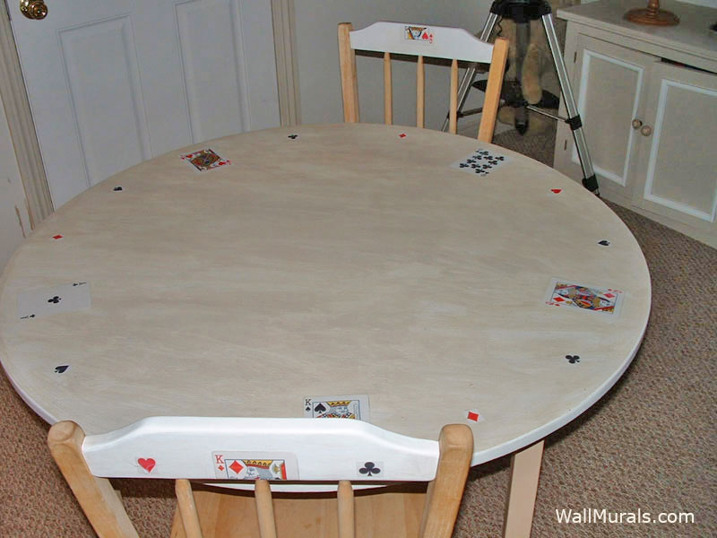 Painted and Decoupage Card Table