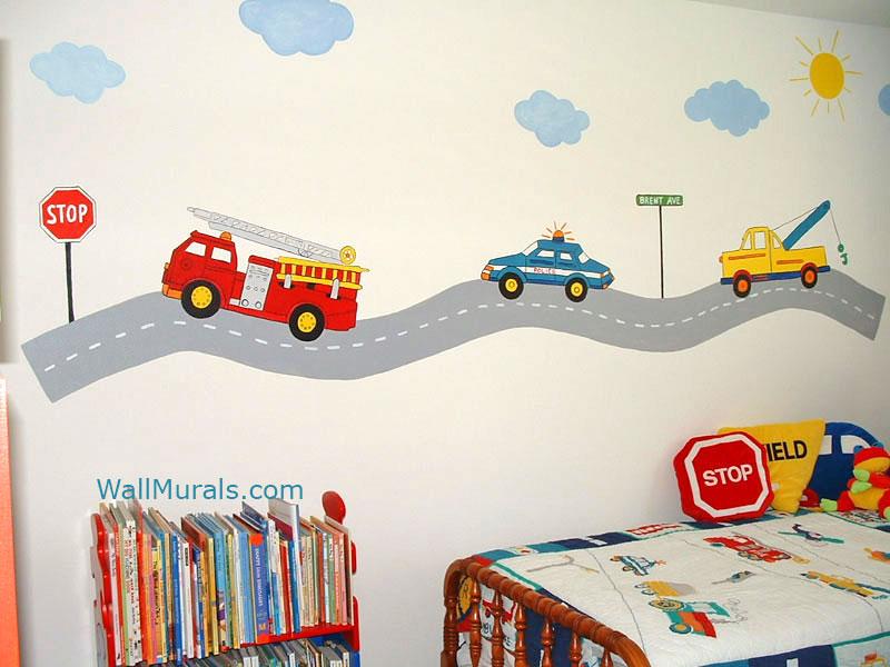 Transportation Theme Wall Mural