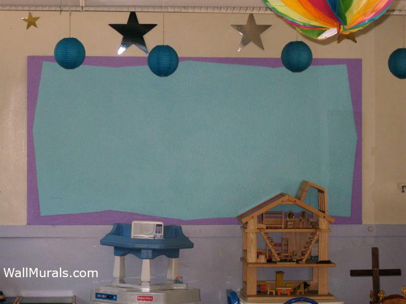 Painted Bulletin Board in Preschool