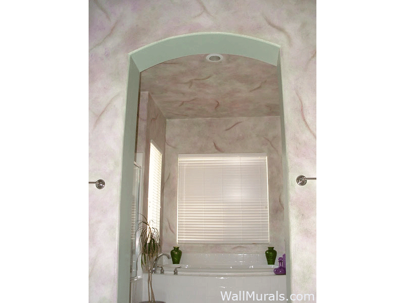 Master Bathroom Faux Walls