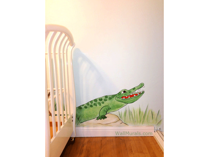 Happy Crocodile Wall Mural