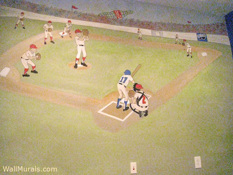 Vintage Baseball Wall Mural
