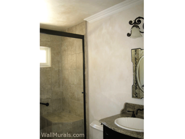 Master Bathroom Faux Painted Walls