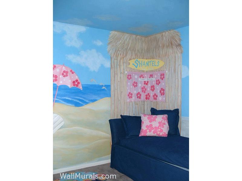 Surf Shack Wall Mural