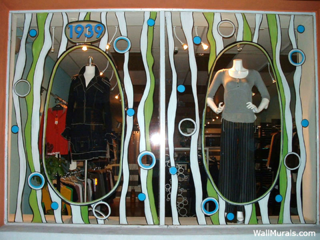 Painted Boutique Window