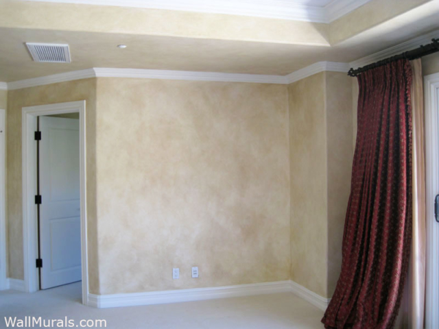 Faux Painted Walls in Master Bedroom