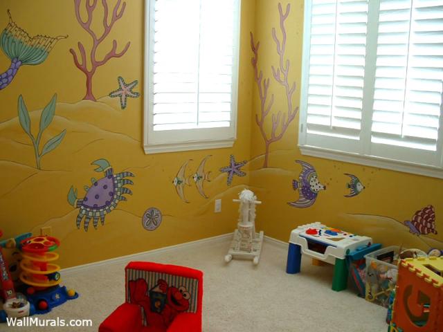 Playroom Wall Mural - Ocean Theme
