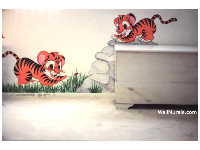 Baby Tiger Wall Mural