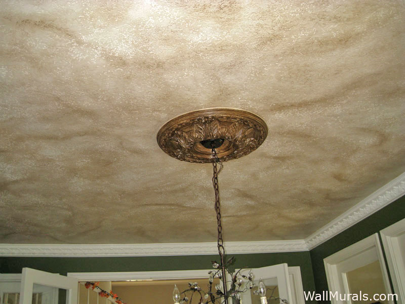 Faux Painted Dining Room Ceiling