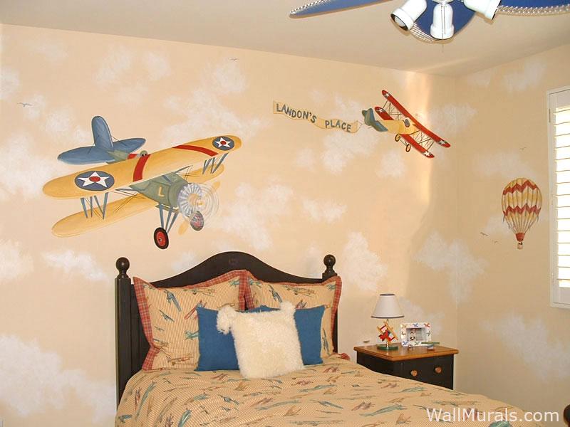 Vintage Airplane Wall Mural