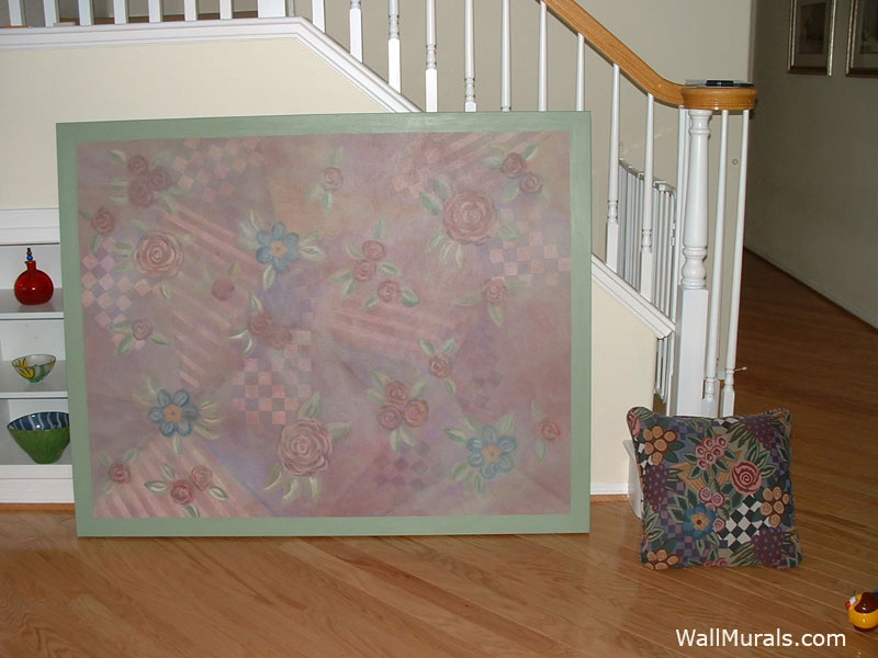 Canvas Painted to Compliment Pillow Fabric