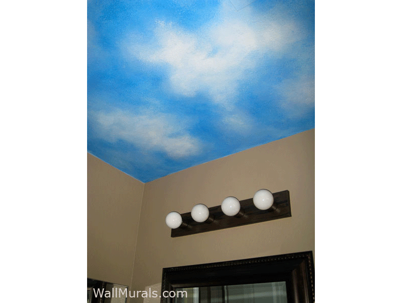 Bright Blue Sky Painted on Ceiling