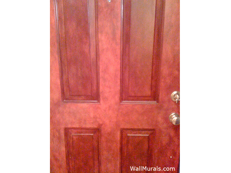 Red Faux Entry Door