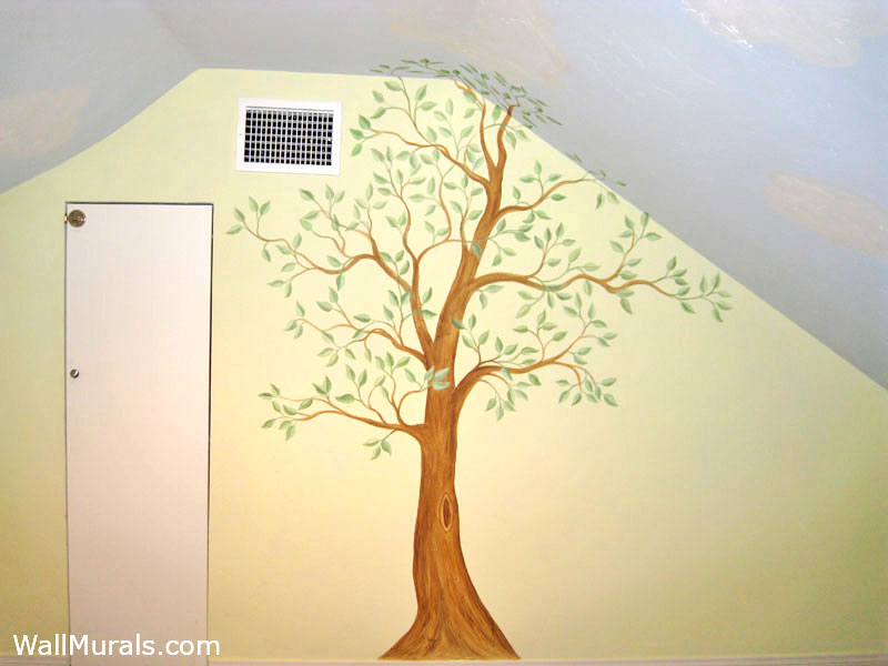 Tree Wall Murals - 50 Hand-painted Tree Wall Mural ExamplesWall ...