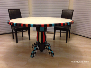 Hand Painted Kitchen Table