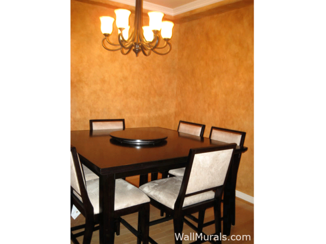 Faux Leather Walls in Dining Room