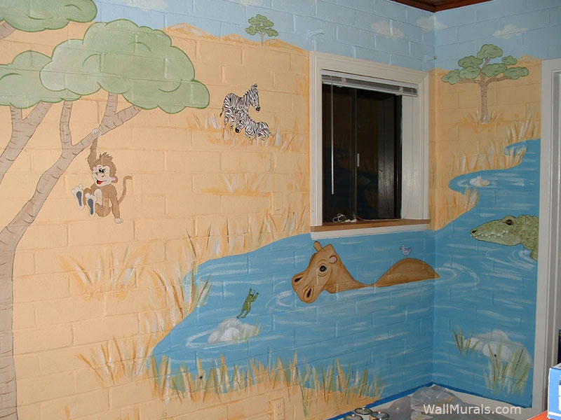 Serengeti Mural in Baby Room