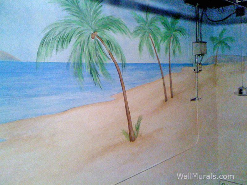 Podcast Backdrop - Beach Ocean Wall Mural