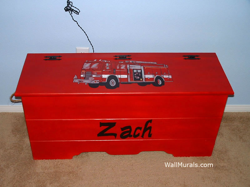 Hand-Painted Toy Box