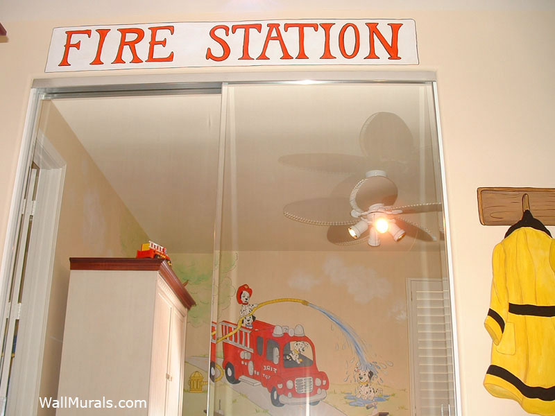 Fire Station Wall Mural