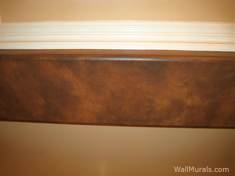 Faux Brown Leather Wall Accent